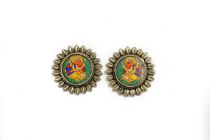 Ganpati kalakriti earrings