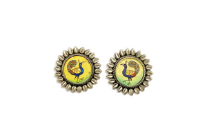 Peacock kalakriti earrings