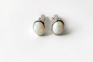 Moonstone cuff links