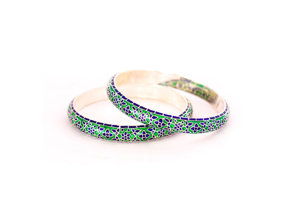 Silver bangle with enamel work  (meena) speciality from rajasthan 7