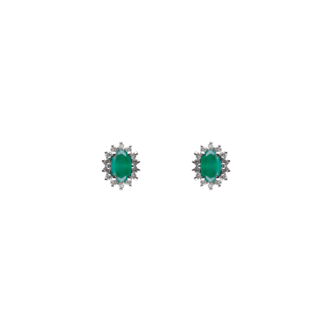diamond emerald studs