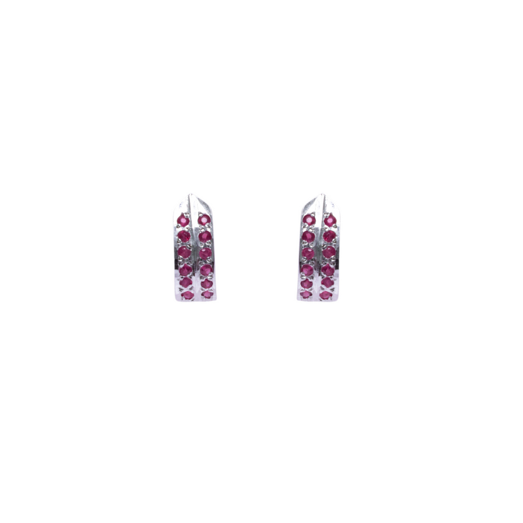 ruby silver earrings online