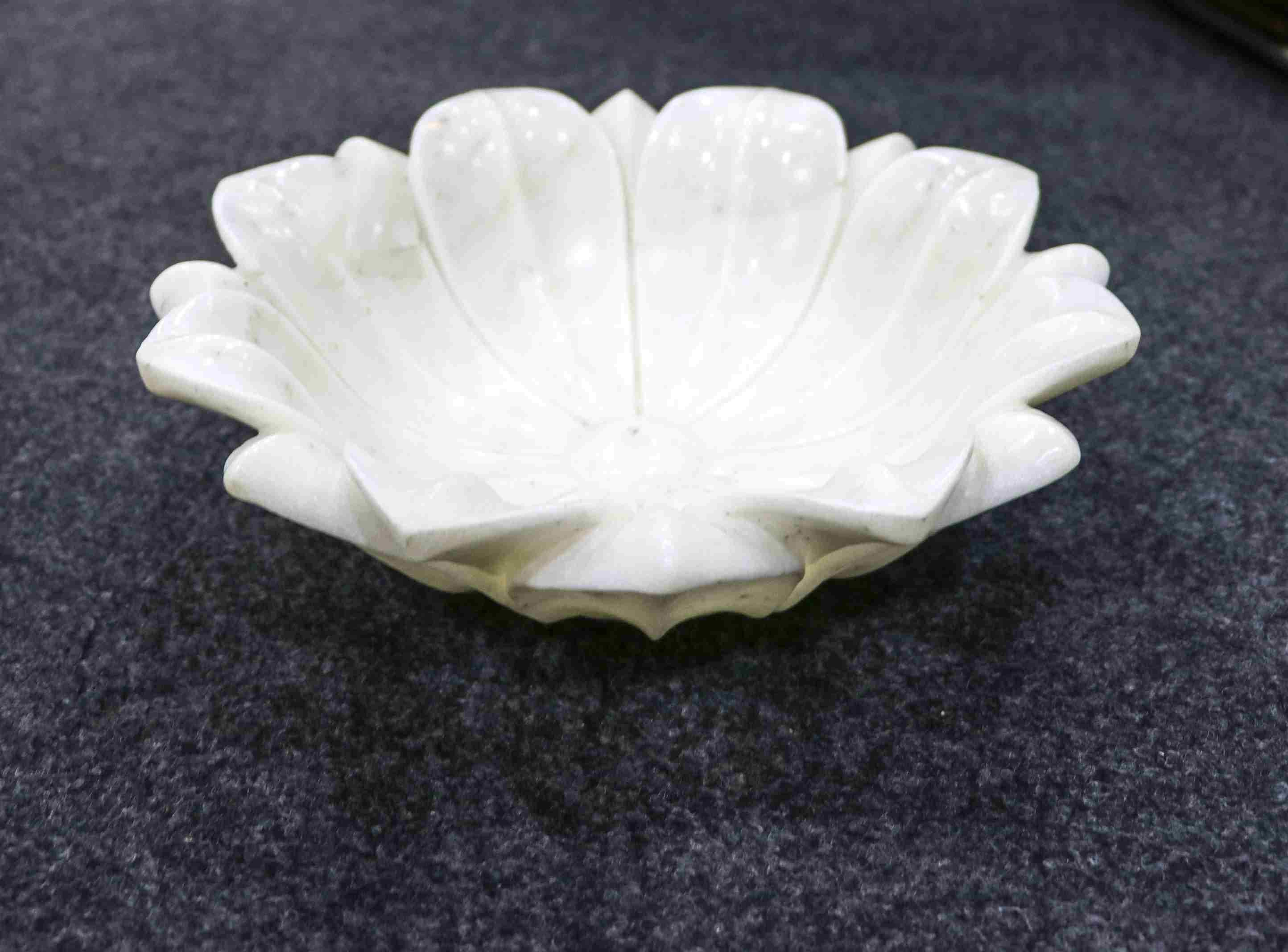 One stone marble urli hand carved 3