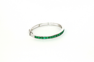 Green onyx oval shape kada
