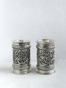 Zaali work silver candle stand 3