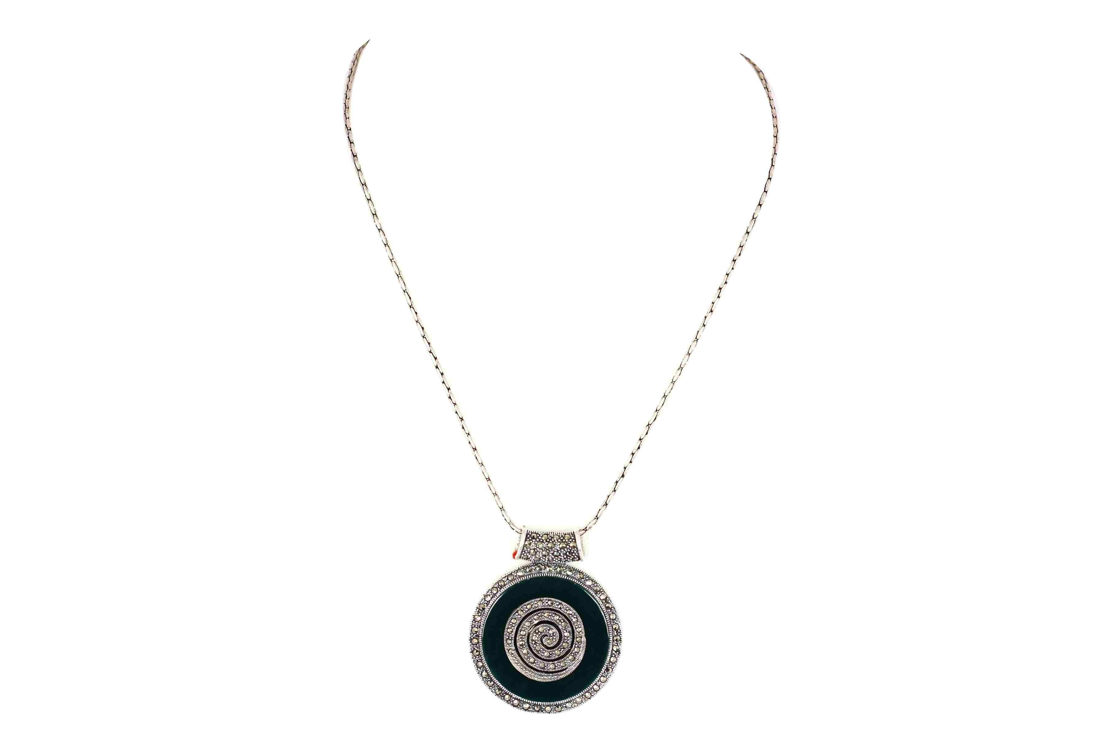 Black onyx with marcasite designer 4