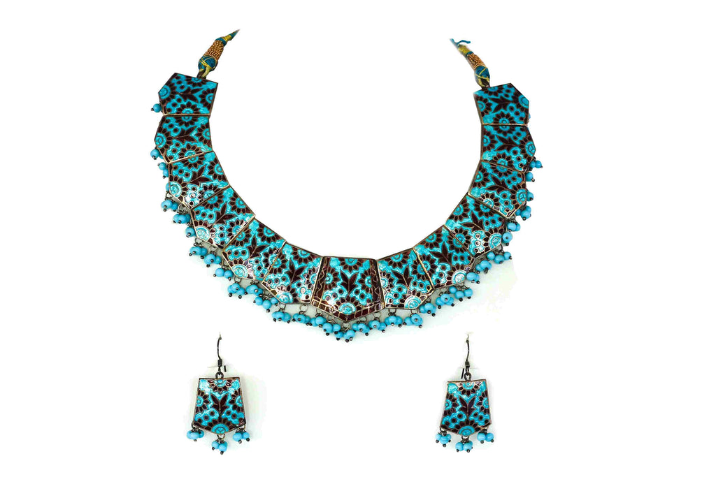 Enameled necklace set  2