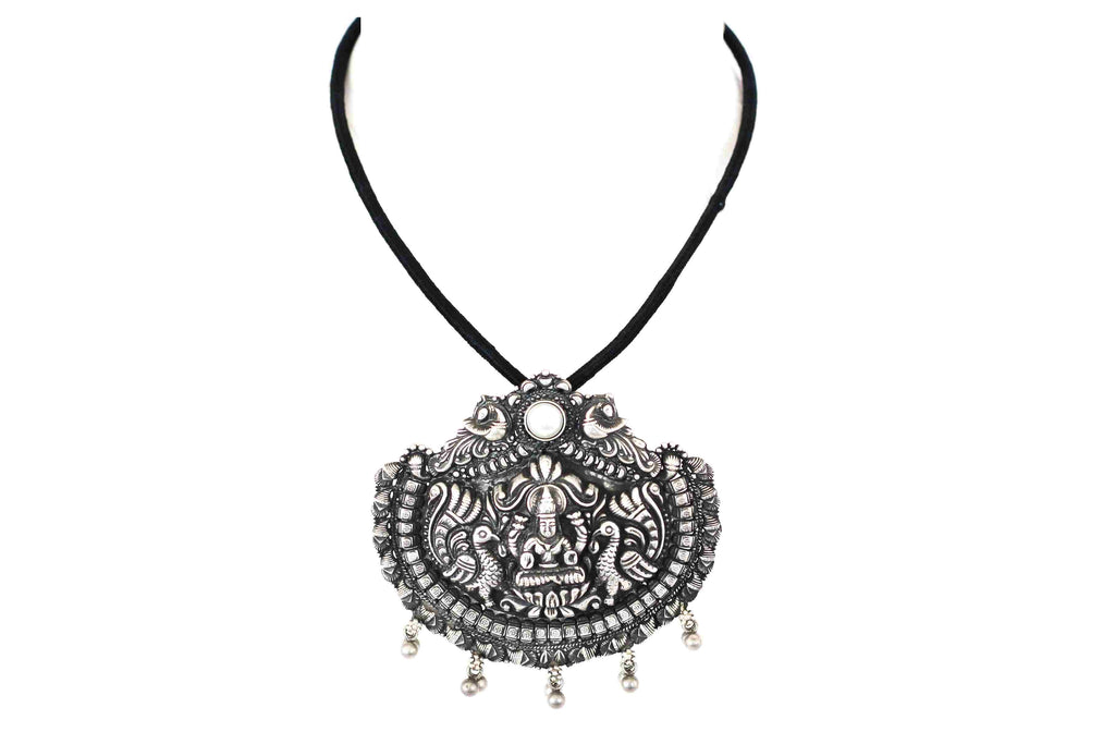 Embossed temple jewellery pendant