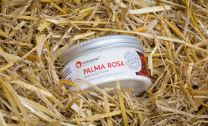 The sweet uplifting rose like smell, has earthy undertones making it a wonderful addition to unrefined shea butter