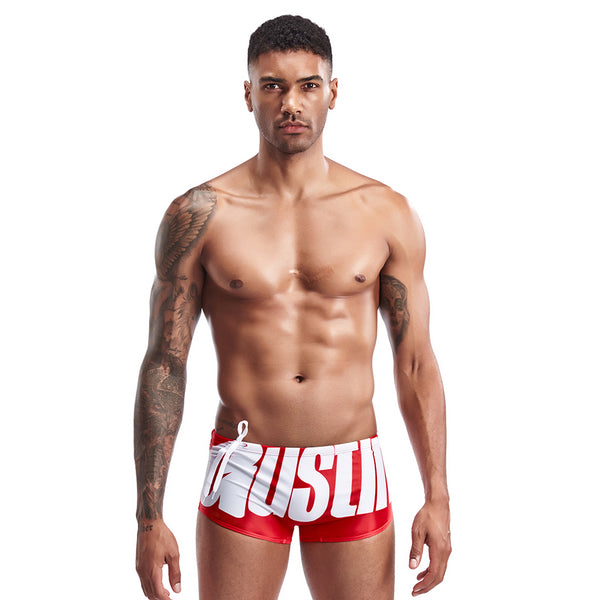 Red Austin Print String Summer Brief