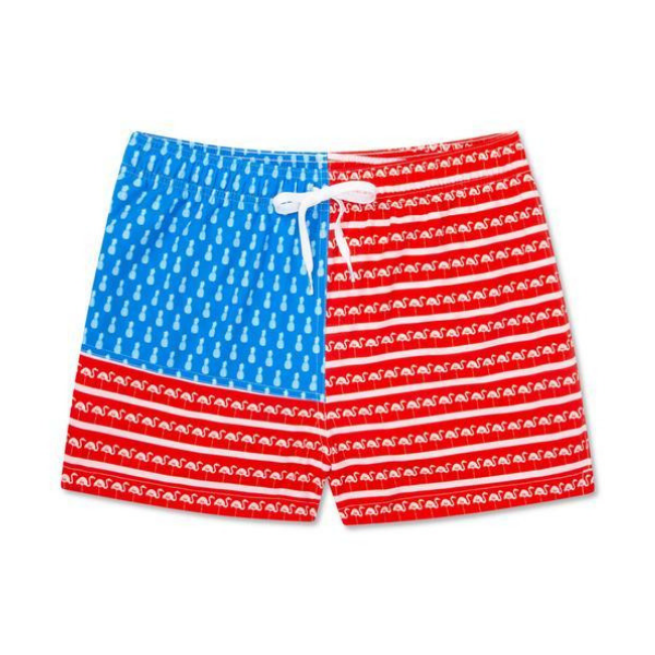 The US Flamingo Draw String Swim Shorts