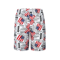The US Flag Paper Draw String Swim Shorts
