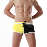 The Twin Color Draw String Swim Boxer Shorts