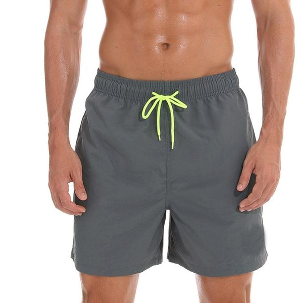 The Shades of Grey Draw String Swim Shorts