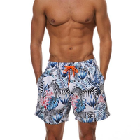 The Zebra in Tropics Draw String Swim Shorts