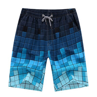 The Blues Checker Game Draw String Swim Shorts