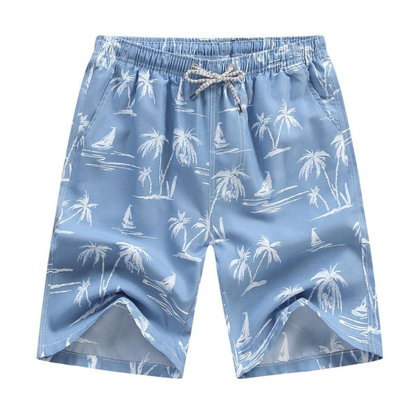 The Blues Palms Draw String Swim Shorts
