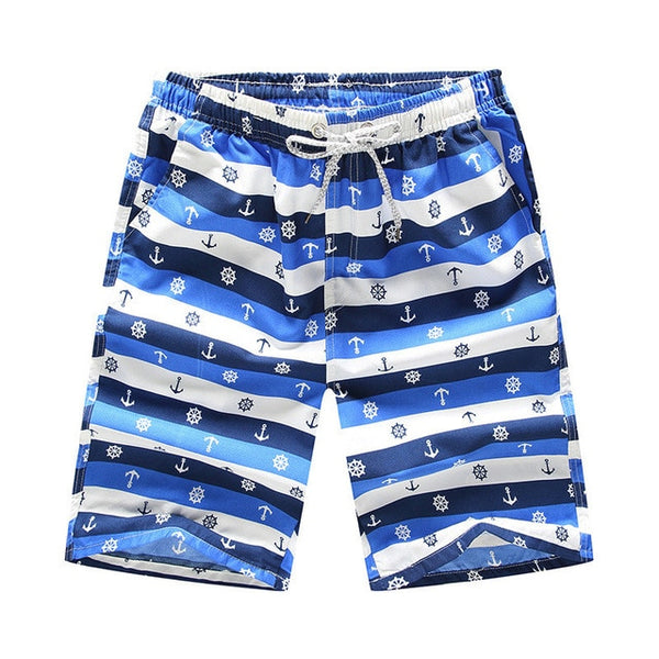 The Blues Anchor Draw String Swim Shorts