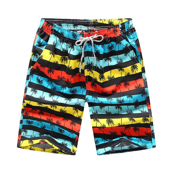 The Bohemian Tropics Saga Draw String Beach Shorts