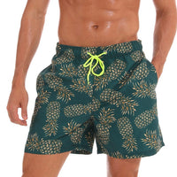 The Green Pineapples Draw String Swim Shorts