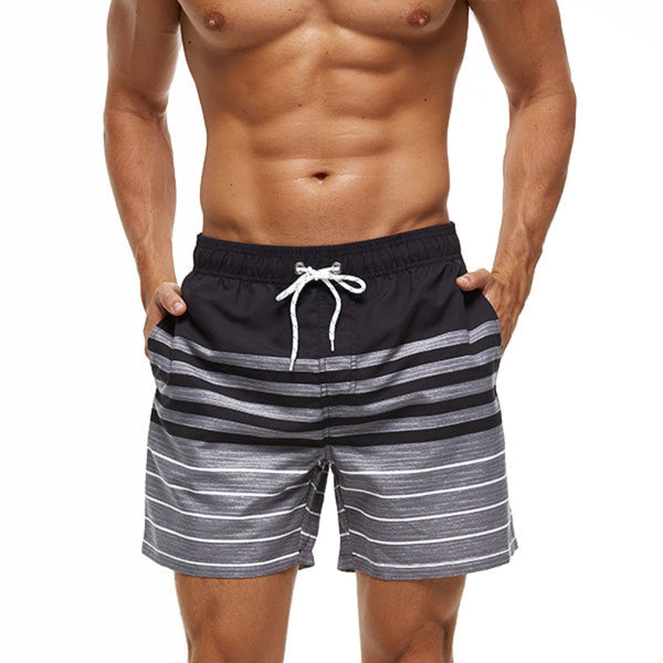 Grey and Black Swim Shorts