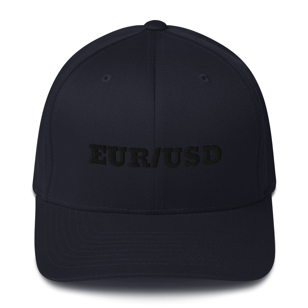 Forex Trading EUR/USD Structured Twill Cap