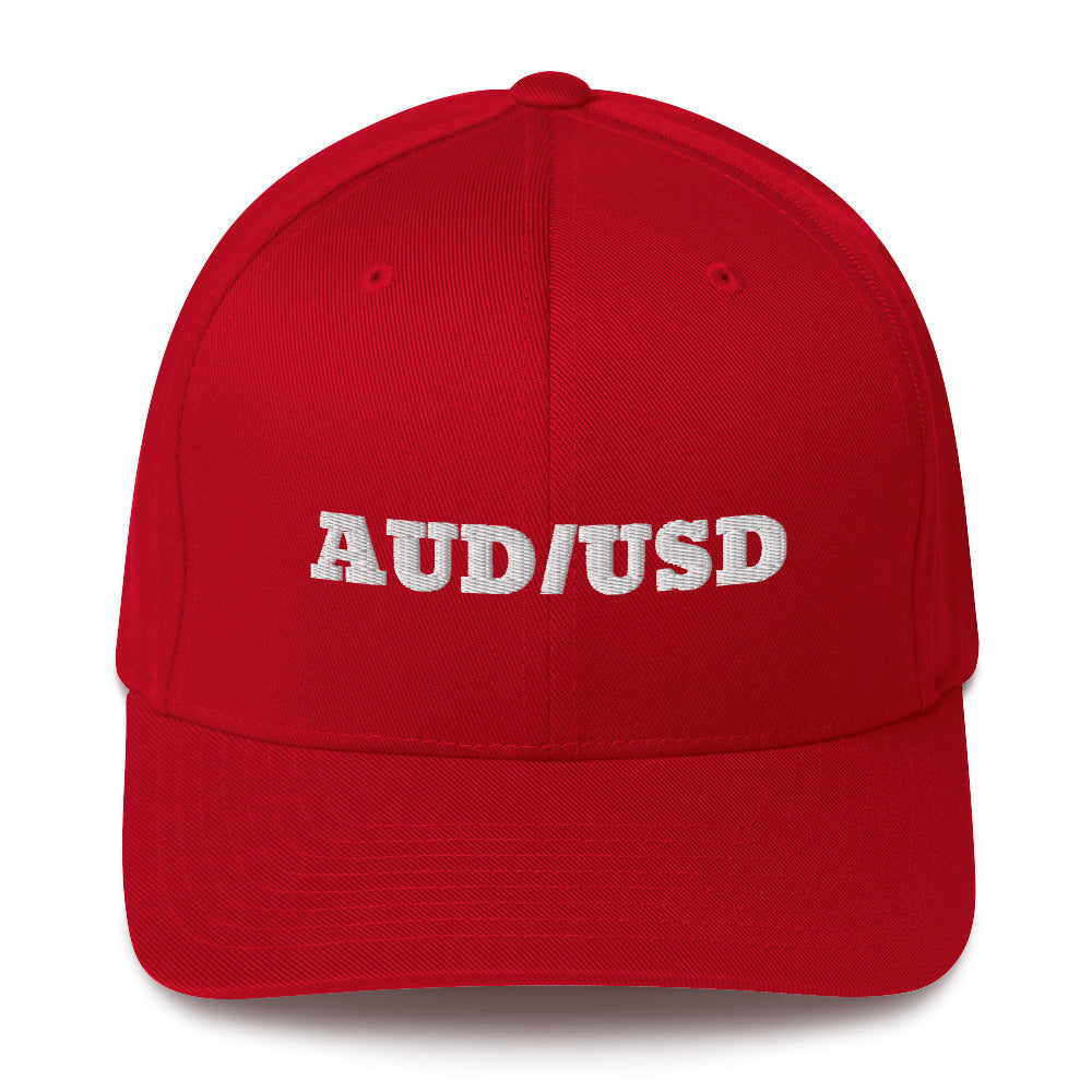 Forex Trading AUD/USD Structured Twill Cap