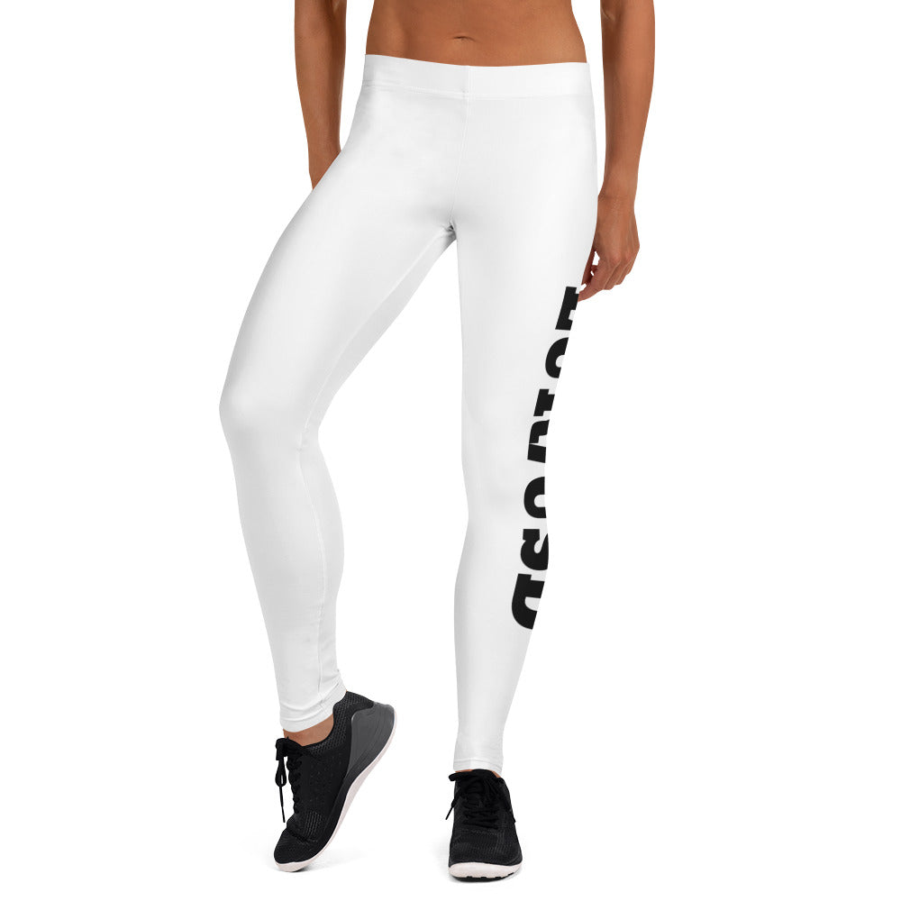 WHITE EUR/USD Leggings