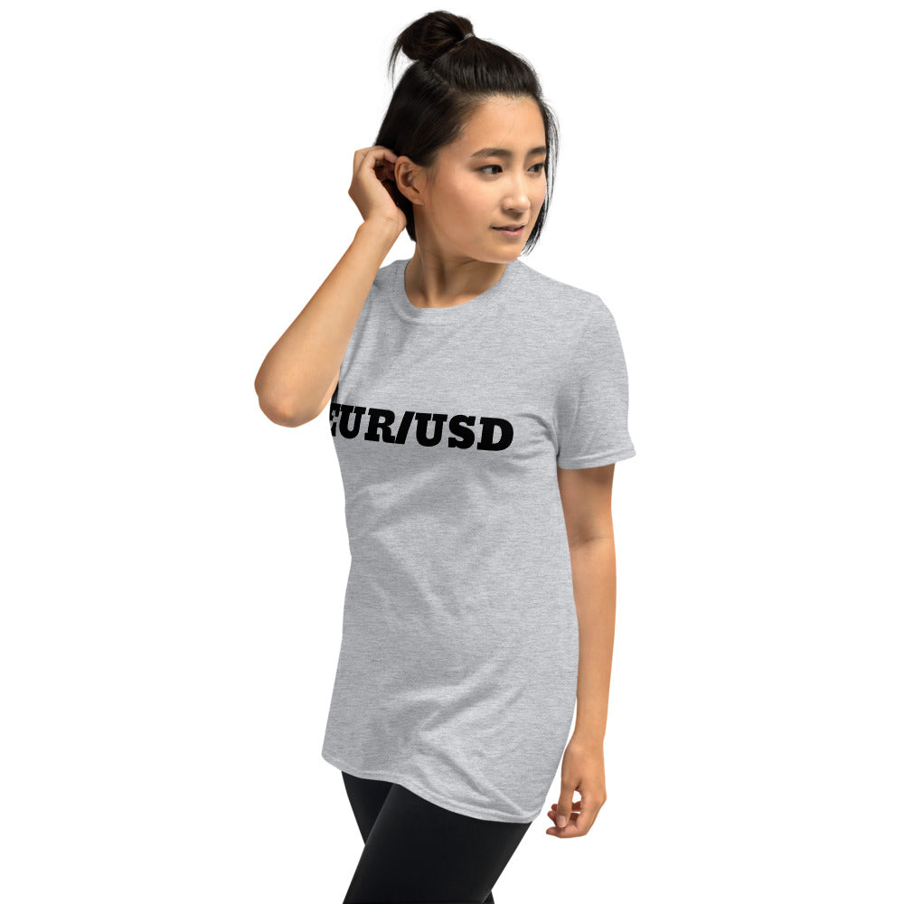 EUR/USD Short-Sleeve Unisex T-Shirt