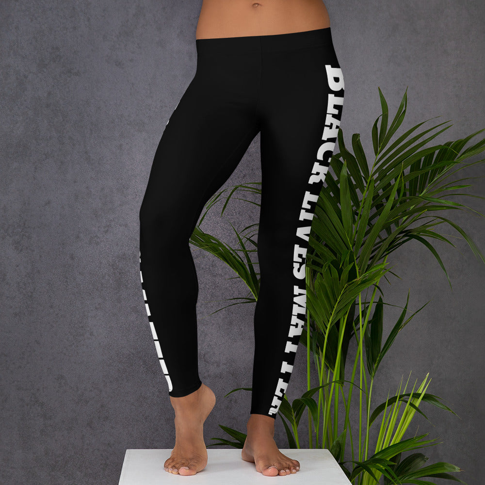 Black Black Lives Matter Leggings