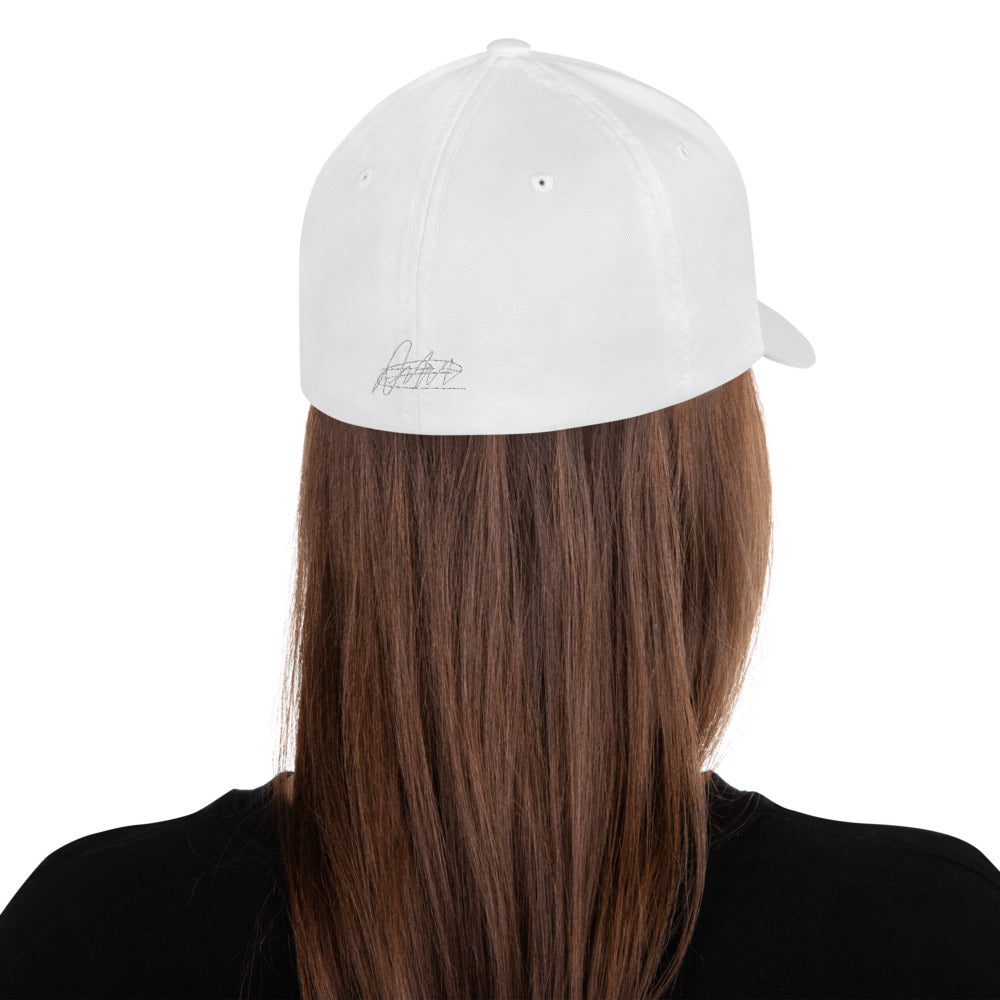 White The Closer Structured Twill Cap