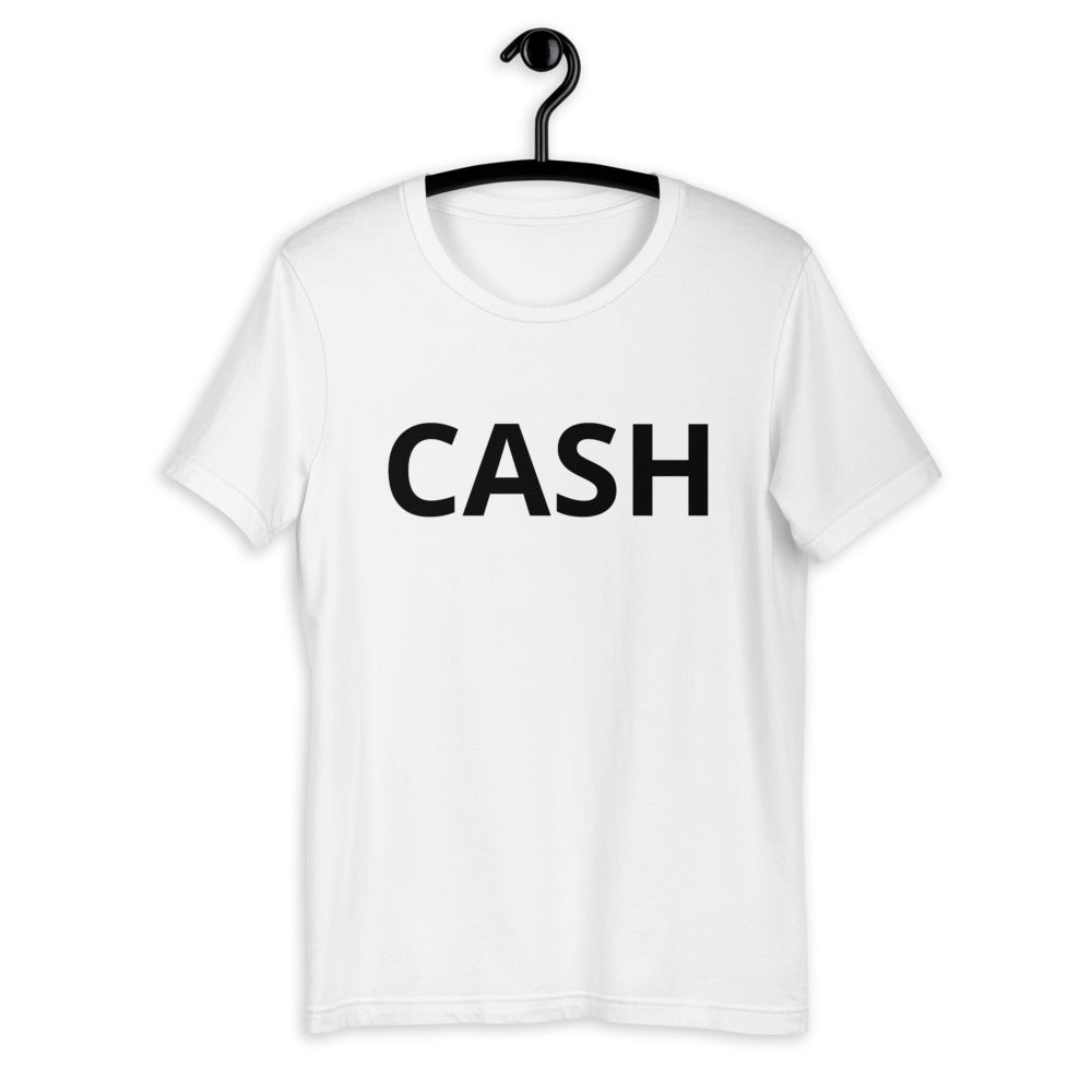 UNISEX Black Letter Cash Short-Sleeve Unisex T-Shirt