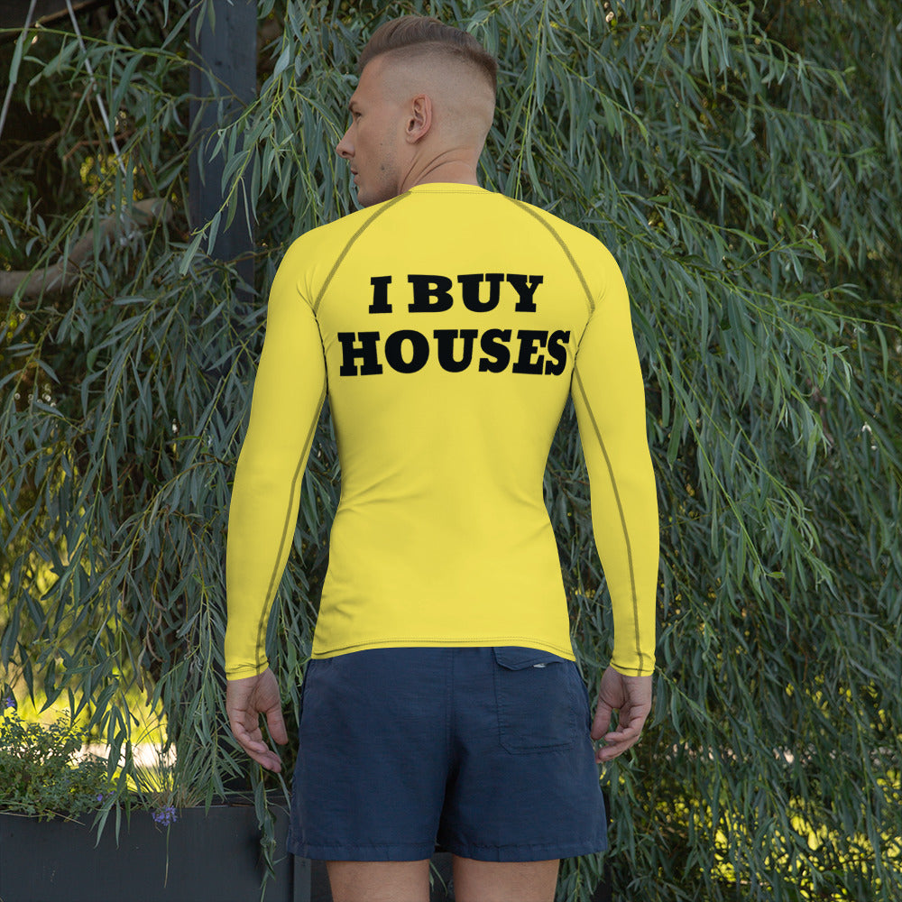 UNISEX YELLOW I BUY HOUSES Rash Guard