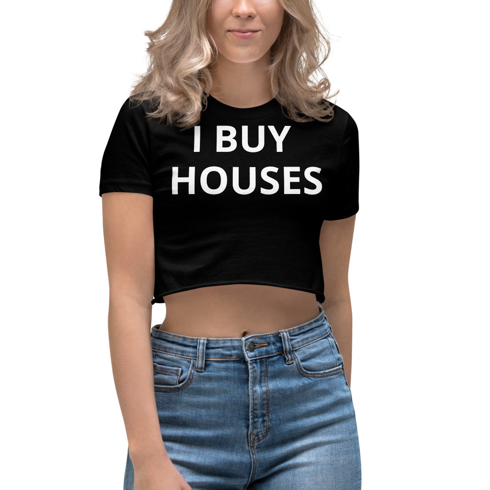Daniel Prado I BUY HOUSES Women's Crop Top Shirt