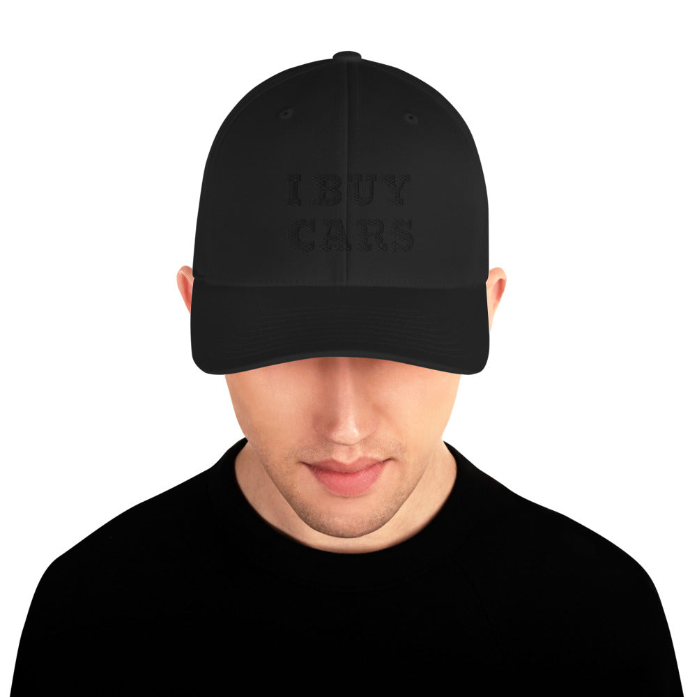 BLACK I BUY CARS Structured Twill Cap