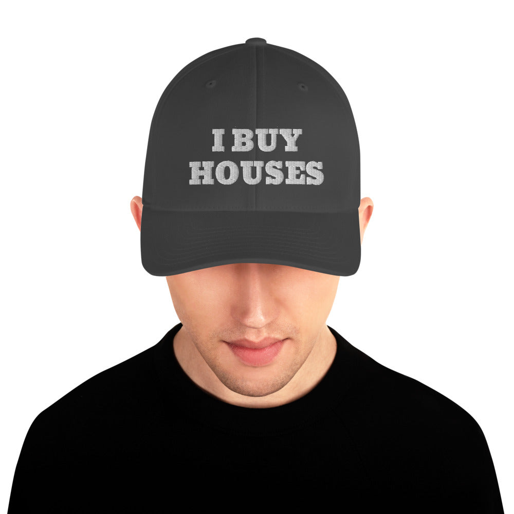 White I Buy Houses Structured Twill Cap