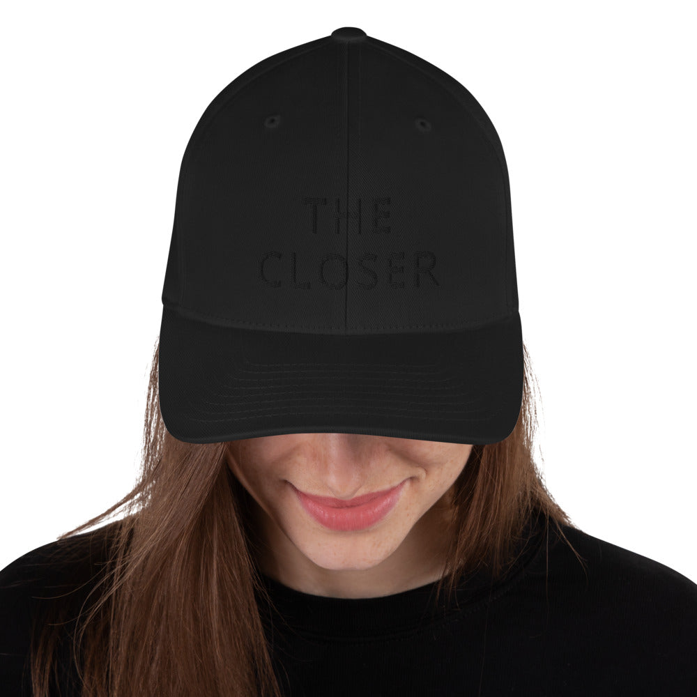 Black The Closer Structured Twill Cap