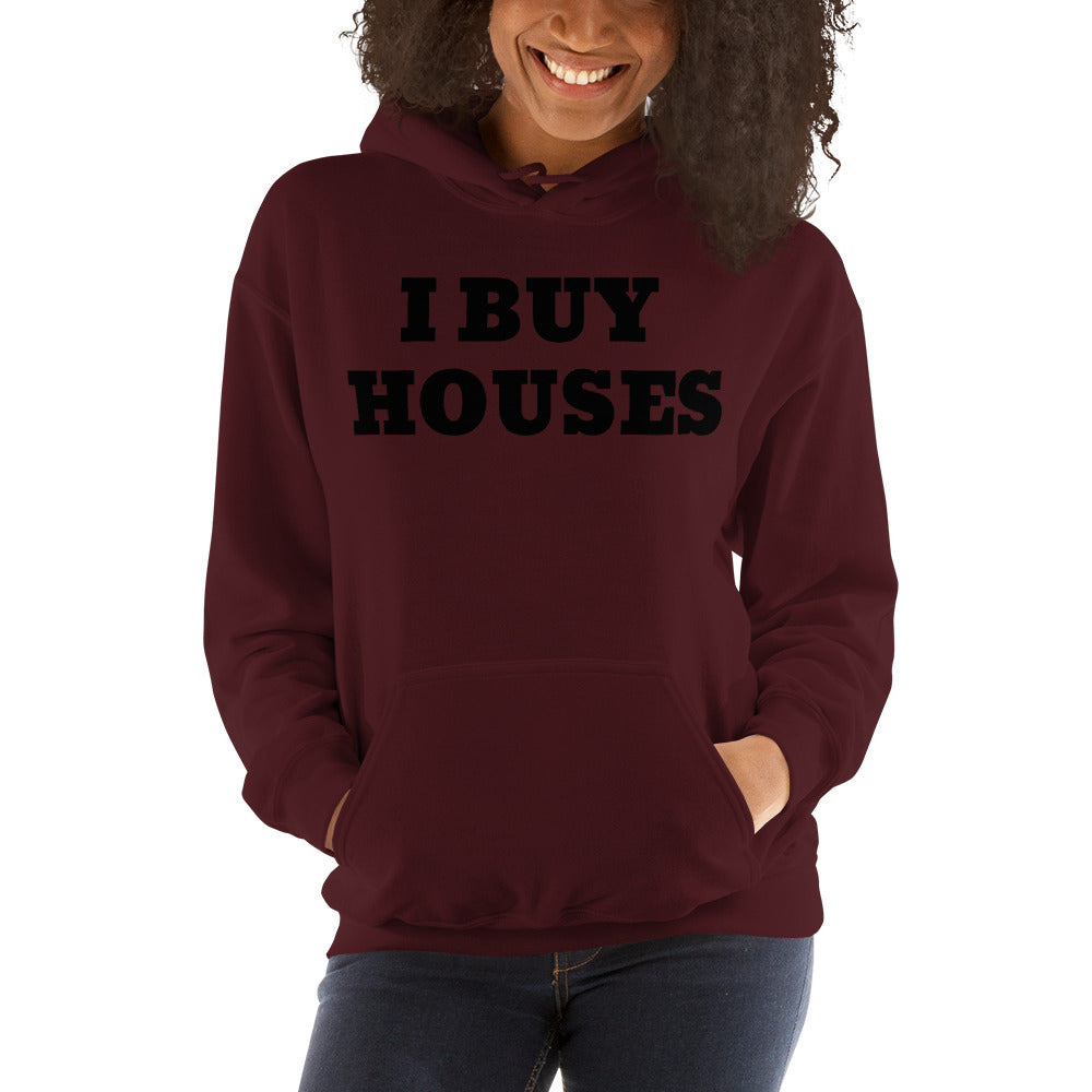 UNISEX BLACK I BUY HOUSES MULTIPLE ON COLORS Unisex Hoodie