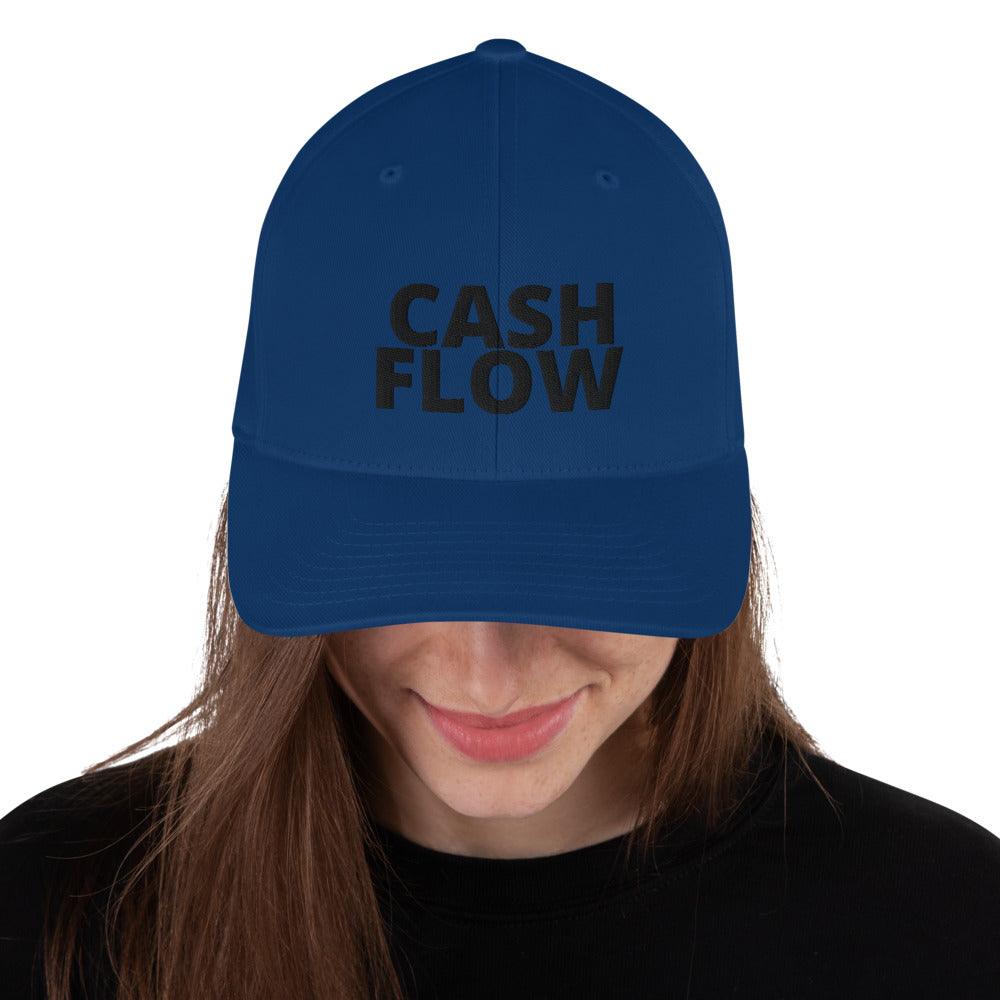 BLACK CASH FLOW  Structured Twill Cap