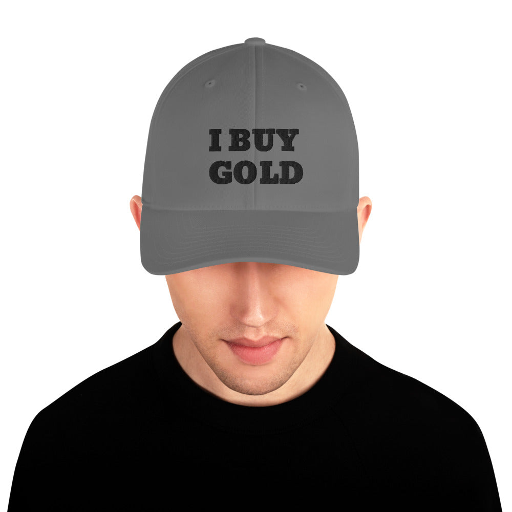 BLACK I BUY GOLD Structured Twill Cap