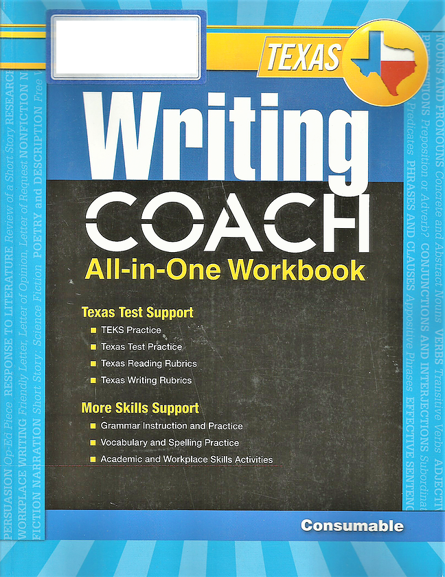 Writing Coach All-in-One Workbook Grade 7