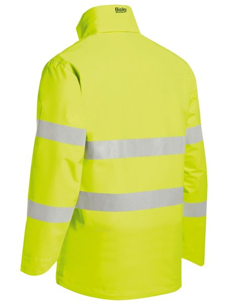 TAPED HI VIS LIGHTWEIGHT RIPSTOP RAIN JACKET BISLEY