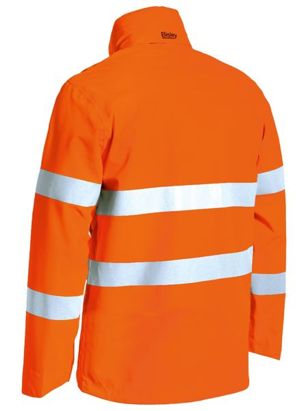 BJ6927T- TAPED HI VIS LIGHTWEIGHT RIPSTOP RAIN JACKET Bisley
