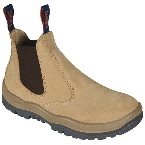 MONGREL 'T' Series Wheat Suede Elastic Sided Safety Boots 240040