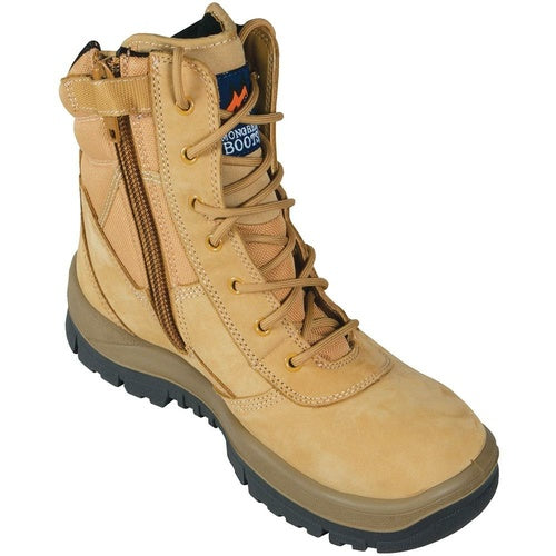 MONGREL 'P' Series Wheat High Leg Zip Sided Safety Boot 251050
