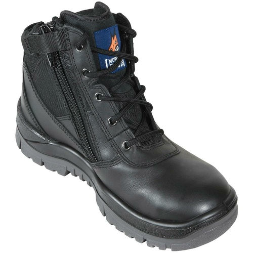 MONGREL 'P' Series Black Zip Sided Safety Boots 261020