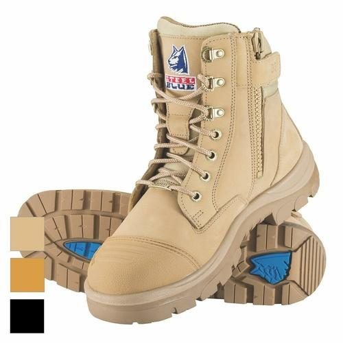 Steel Blue Southern Cross 150mm Z/Sided Safety Boots w/ Scuff Cap 312661