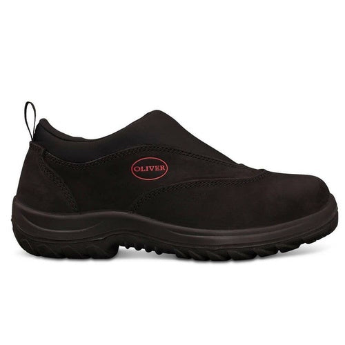 Oliver Black Slip On Safety Sport Shoes 34-610