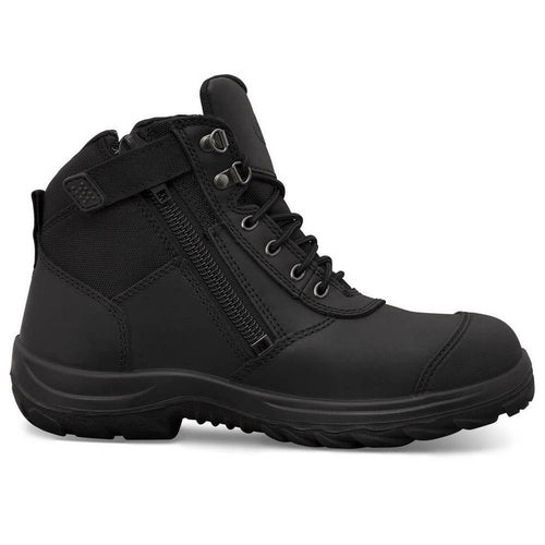 Oliver Black Zip Sided Ankle Safety Boots 34-660