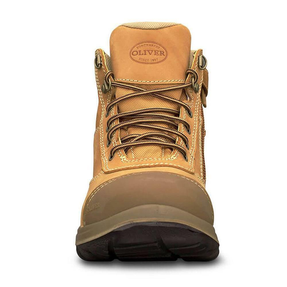 Oliver Wheat Zip Sided Ankle Safety Boots 34-662